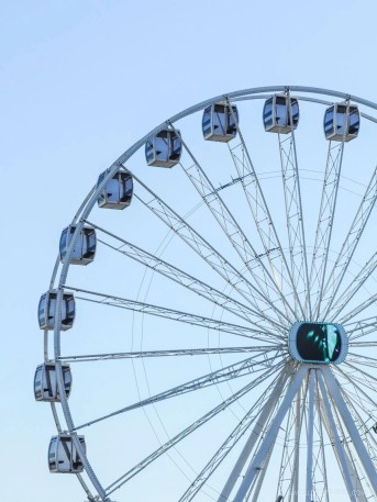 Ferris Wheel in Claridade beach Figueira da Foz - Portugal Silver Coast