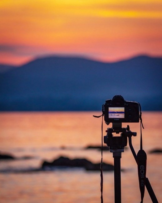 Shooting at sunset in Cote d'Azur