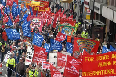 London May Day demonstration, 2006