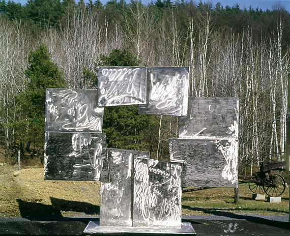 David Smith Untitled (Candida), 1965 Stainless steel, 103 x 120 x 31 inches