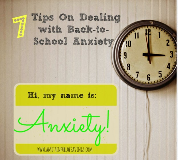 tips on dealing with back to school anxiety