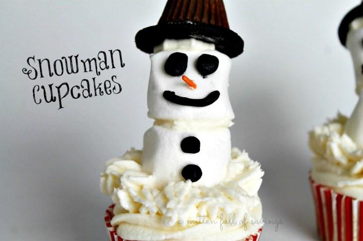 snowman cupcakes 2