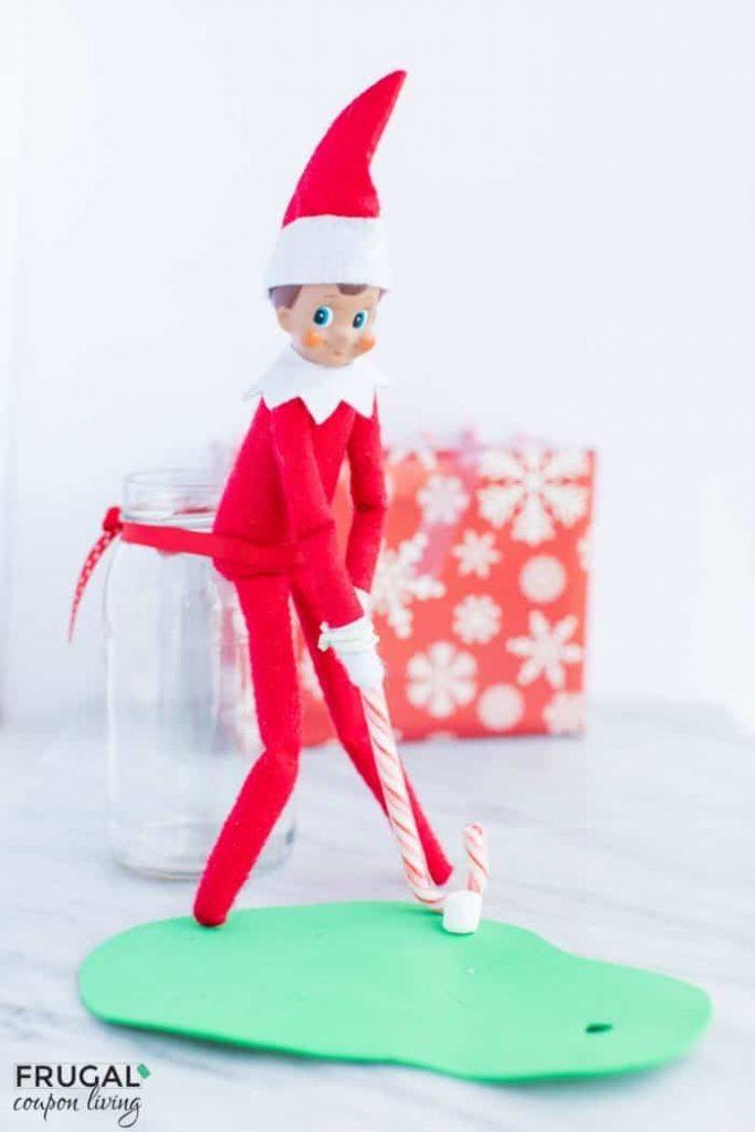 Elf plays golf