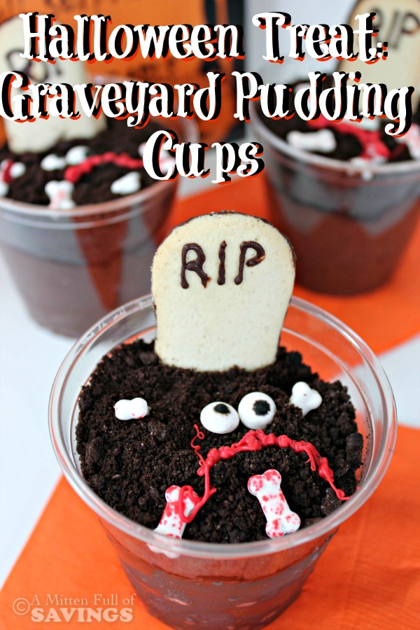 halloween treat graveyard pudding cups - Pudding Halloween Desserts