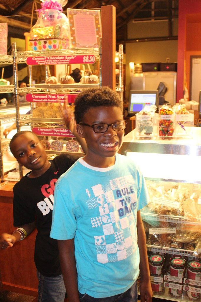 boys at tne candy hut