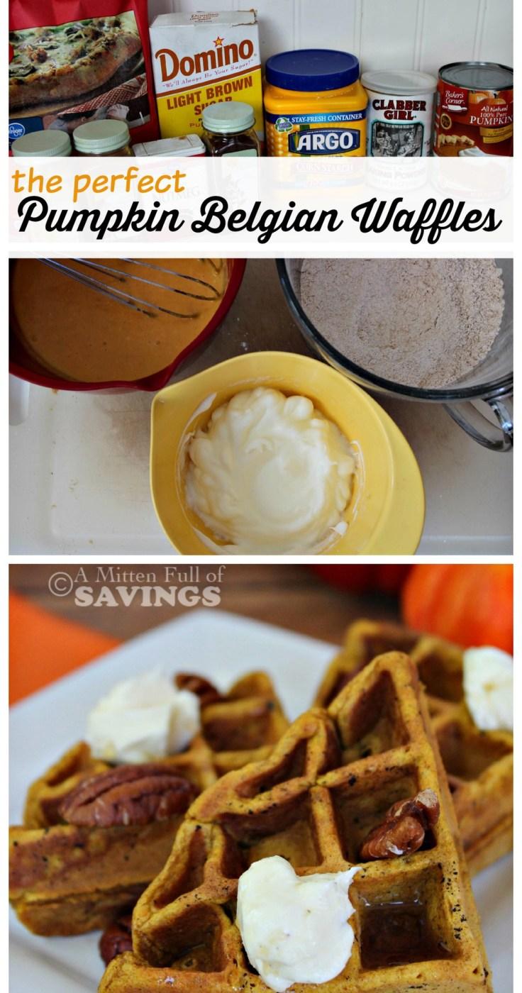 easy recipes for Pumpkin Belgian Waffles
