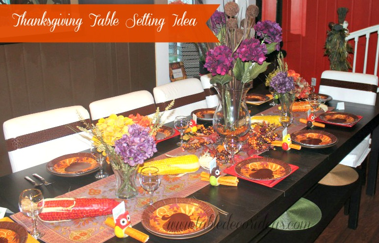 thanksgiving table decor spruce up your thanksgiving table setting with this beautiful table decor idea - Thanksgiving Table Setting Ideas Easy