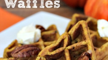 The Perfet Pumpkin Belgain Waffles- perfect for a fall breakfast morning!
