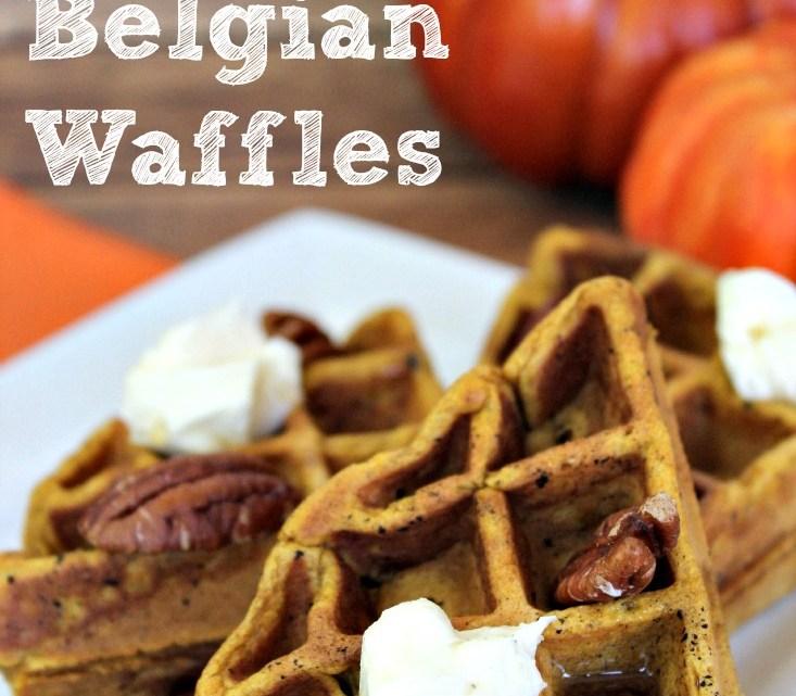 The Perfet Pumpkin Belgain Waffles- perfect for a fall breakfast morning!