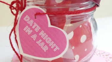 Planning Date Night doesn't have to be hard when you have a jar filled with Date Night Ideas! Here's 20 Date Night Ideas to use with Date Night in a Jar!