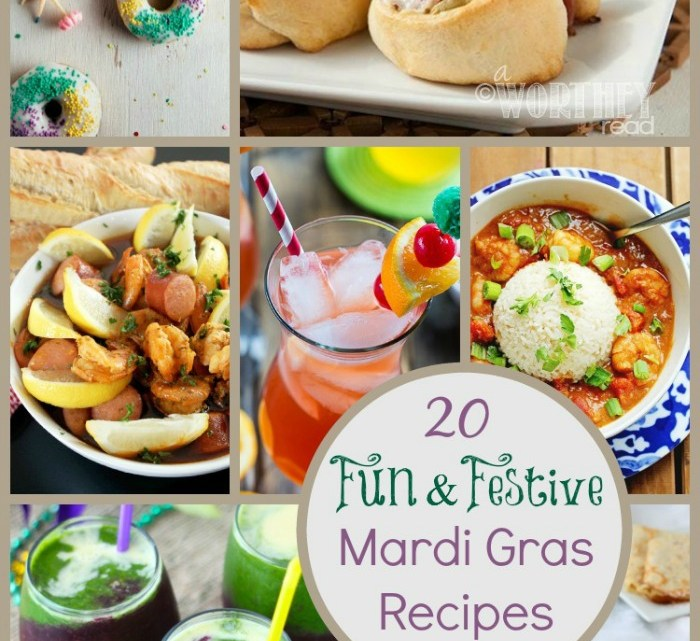 Happy Mardi Gras! Take the guess work out of planning your party with these 20 Fun & Festive Mardi Gras Recipes