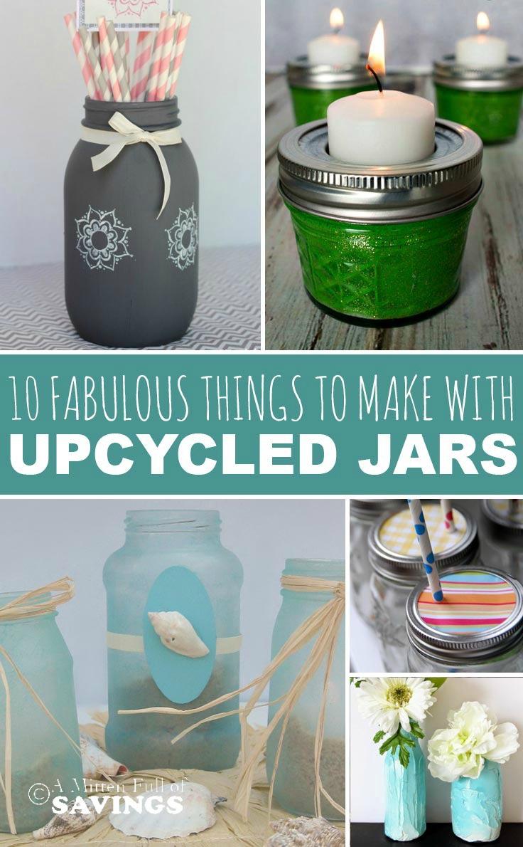 Put those old mason jars glass jars