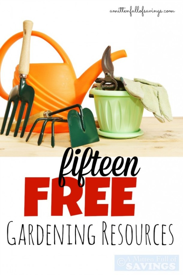 It's time to get your hands into some dirt and get your garden ready! Here's 15 FREE Gardening Resources to get you started! Pin them for later or check them out now by clicking the link!