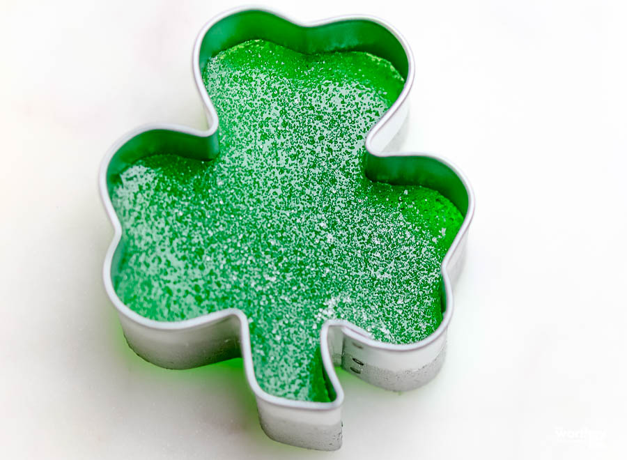 Shamrock cookie cutter with gumdrops