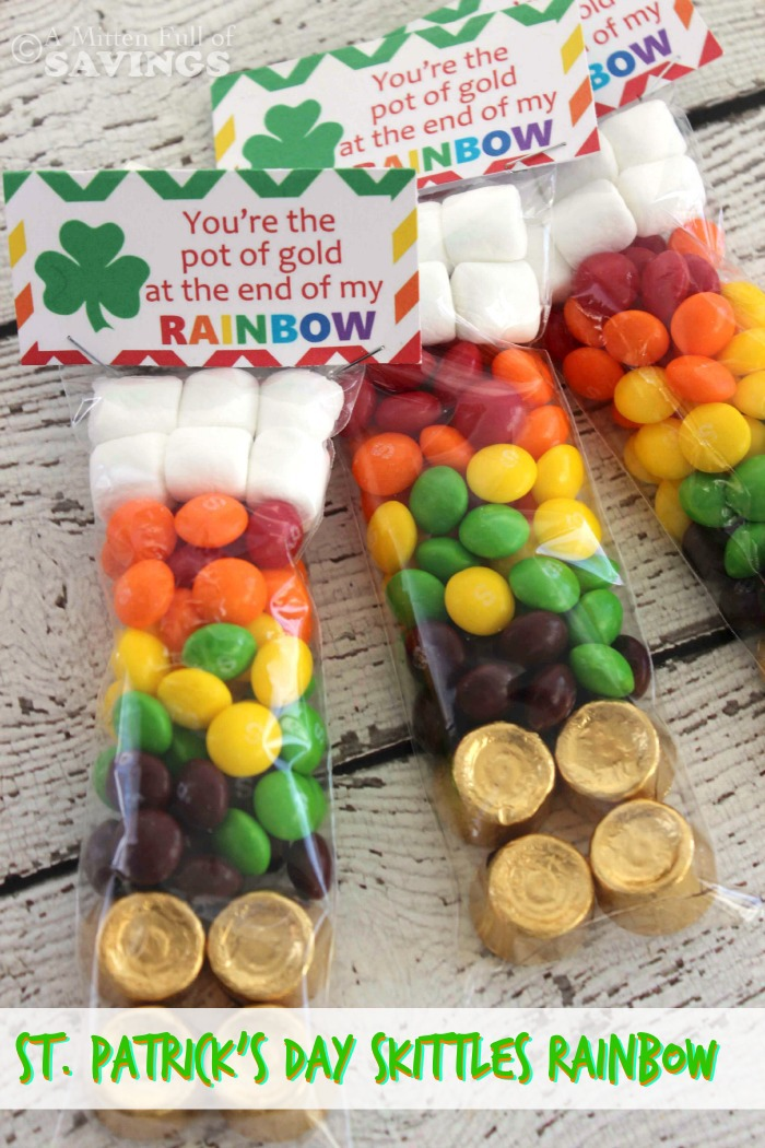 St patricks day treat idea st patricks day skittles rainbow in put together a fun st patricks day treats thats all about skittles heres how forumfinder Images