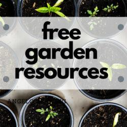 free garden resources image