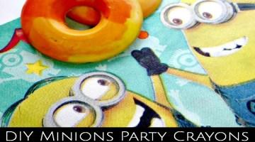 DIY Idea Minions Party Crayons