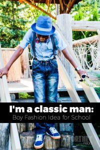 Boy Fashion Idea: I'm A Classic Man