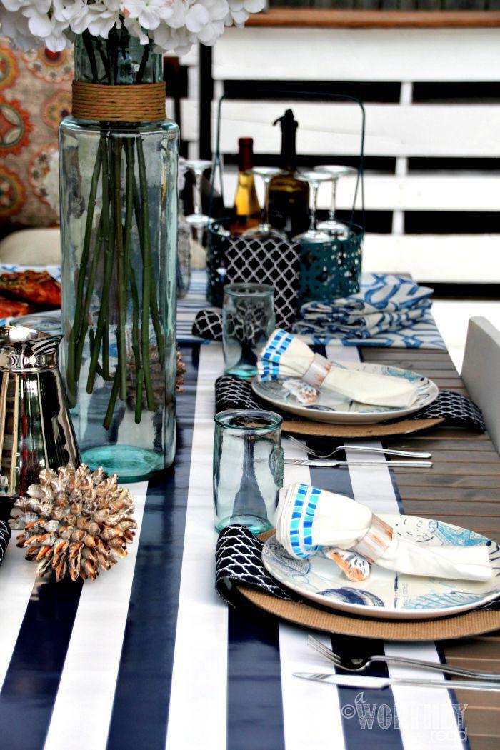nautical table decor theme