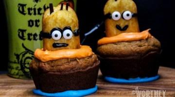 Easy Minion Pumpkin Cupcakes