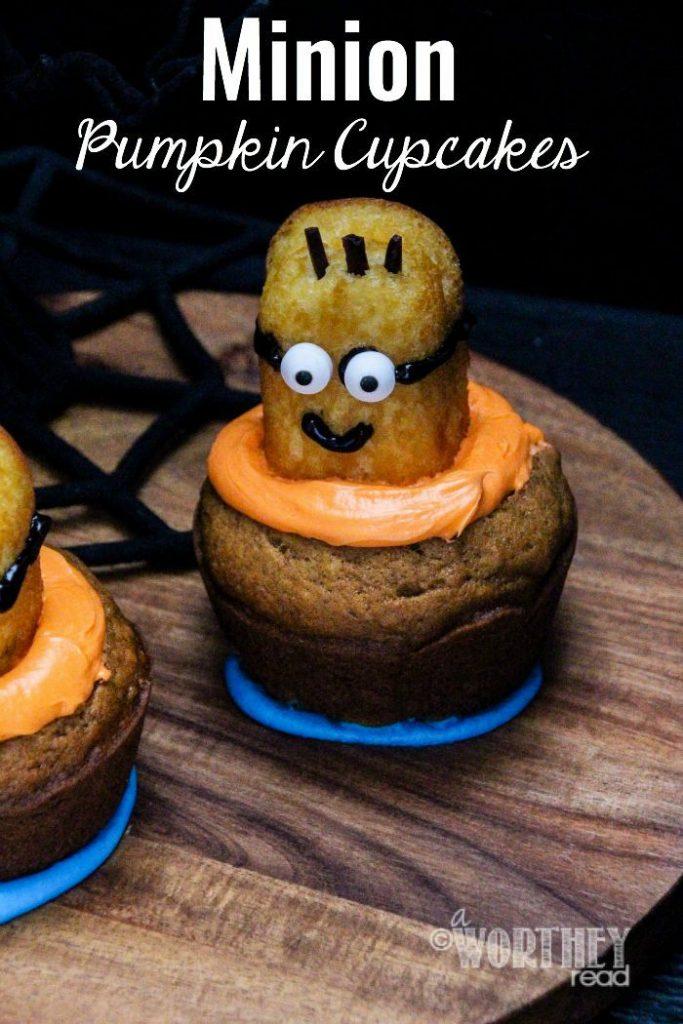 Minion Pumpkin Cupcakes
