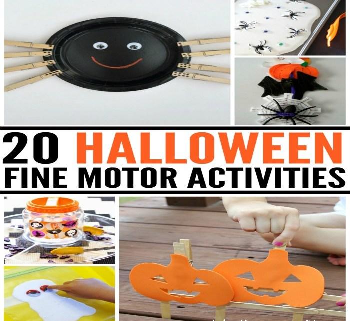 20 Halloween Fine Motor Activities