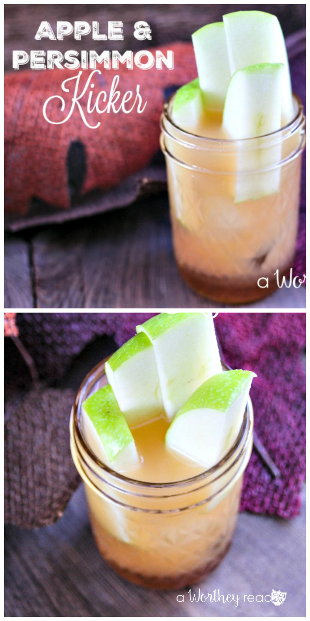 Apple & Persimmon Kicker - great drink for the weekend!