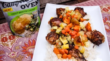 Roasted Chicken & Vegetables over Cheesy Broccoli Rice