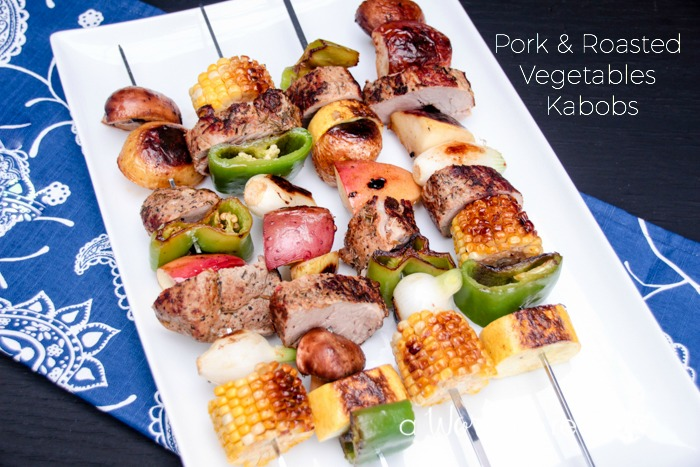 Pork & Roasted Vegetables Kabobs