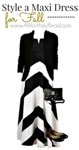 Style A Maxi Dress For Fall Black & White
