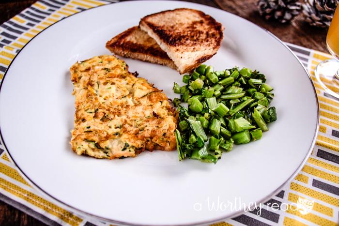 Zucchini & Sweet Potato Hash-Brown Omelet