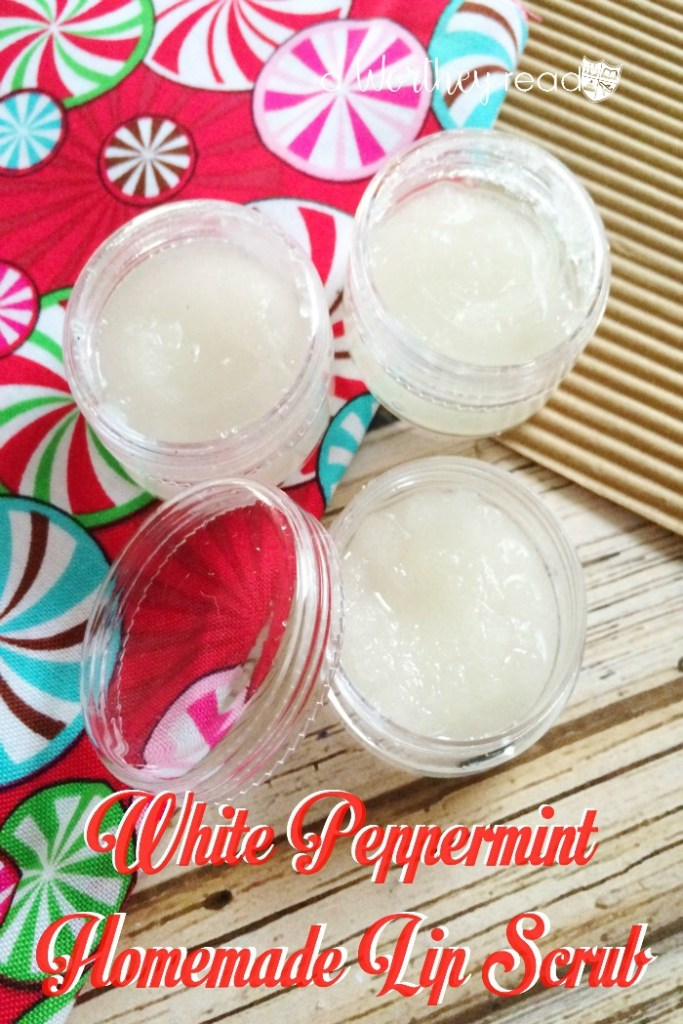 Homemade Christmas Gift Idea - White Peppermint Homemade Lip Scrub