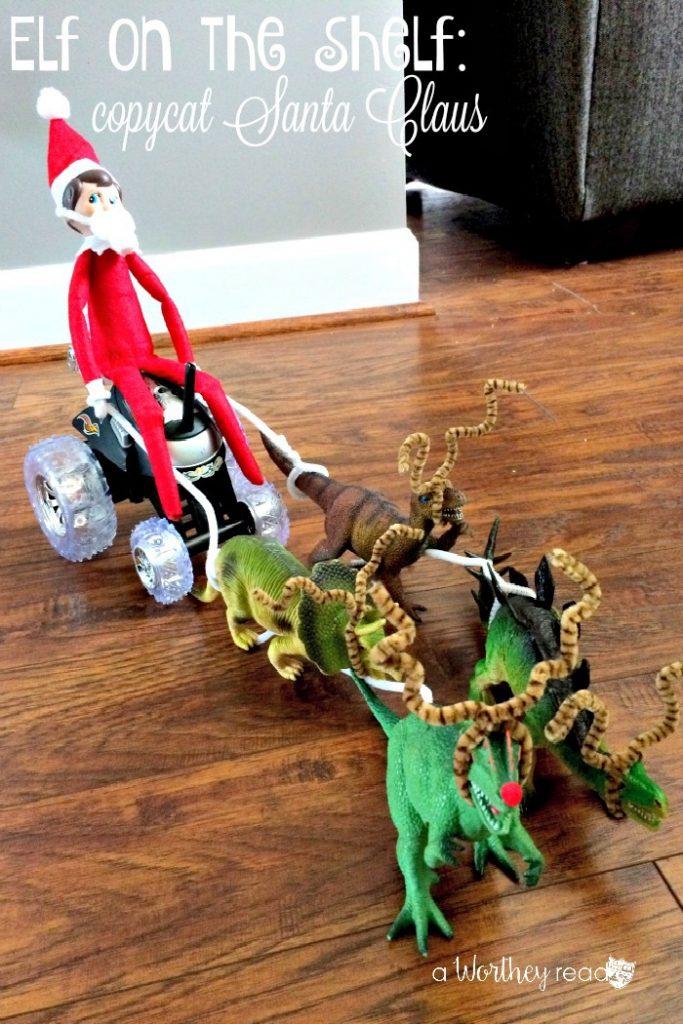 Elf on the Shelf Idea: Elf on the Shelf Copycat Santa Claus
