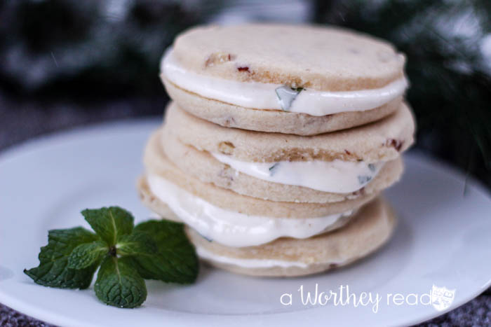 Pecan Sugar Cookie Sandwiches with No Bake Lemony Cheesecake Filling