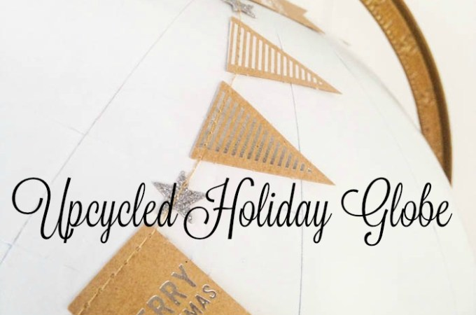 Quick and Easy DIY Idea Upcycled Holiday Globe