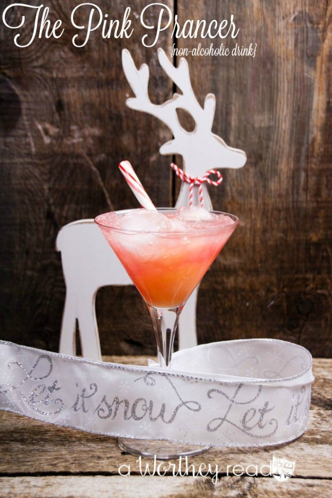 Easy Non-Alcoholic Christmas Drink- The Pink Prancer