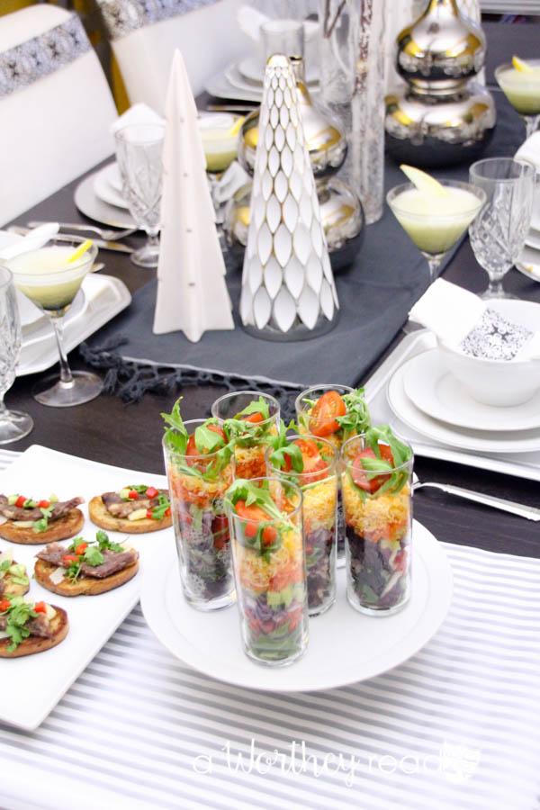 Fresh Layered Salad with Blackberry Vinaigrette-5