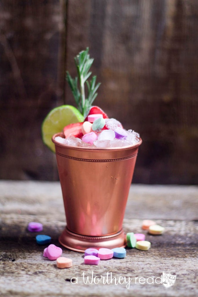 Here's an easy Valentine's Drink to try- Be Mine Valentine's Moscow Mule