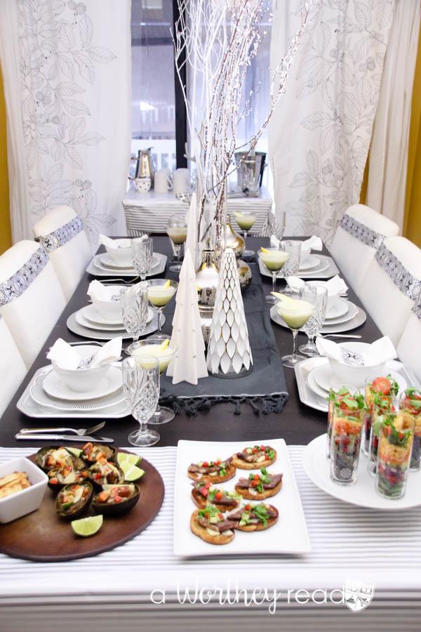White & Silver Award Show Dinner Idea-9