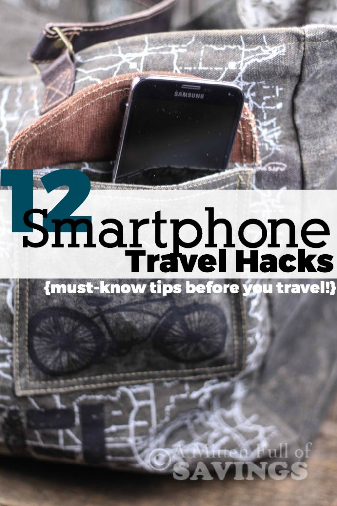 Your smarphone is so much more than just a phone! If you love to travel and want the best travel tips using your phone, be sure to read 12 Smartphone Travel Hacks you need to use!