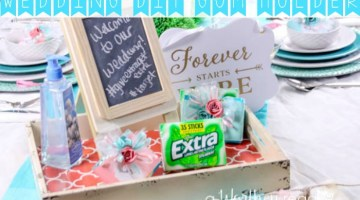 Brides, this is a wedding party favor you must have at your wedding! Wedding Gum Holder DIY & Wedding Tablescape Idea