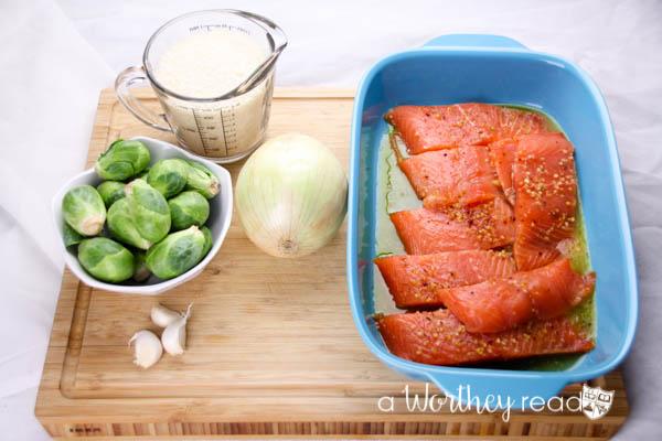 Herb Marinated Salmon & Savory Rice-1