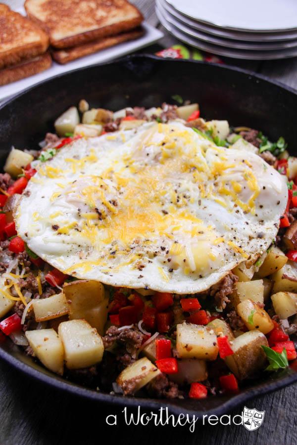 Beef Breakfast Skillet Casserole-7