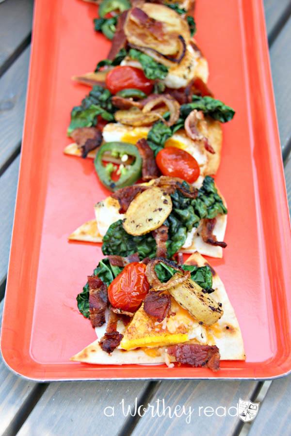 Breakfast Nachos are a great morning meal! Put a twist on your nacho recipe with a easy breakfast idea- Breakfast Nachos
