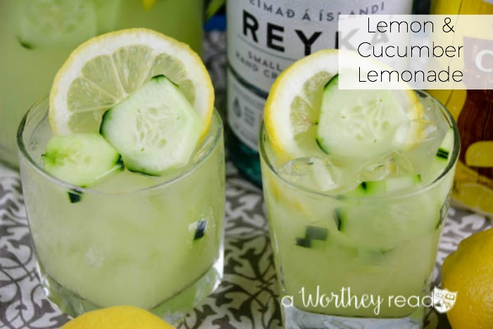Easy summer time cocktail with cucumbers. This is a refreshing lemonade made for adults. Try our Lemon & Cucumber Lemonade Cocktail for your next backyard party of BBQ.