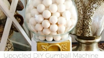 Turn your trash into a beautiful home decor piece! Here's a way to recycle your gumball machine into a home decor WOW factor- Glitter & Gold: Upcycled DIY Gumball Machine