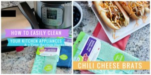 How To Easily Clean Your Kitchen Appliances & Chili Cheese Brat Recipe