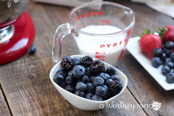 How to make Blueberry & Blackberry Simple Syrup