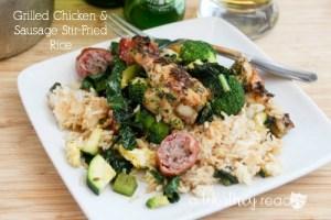 Grilled Chicken & Sausage Stir-Fried Rice