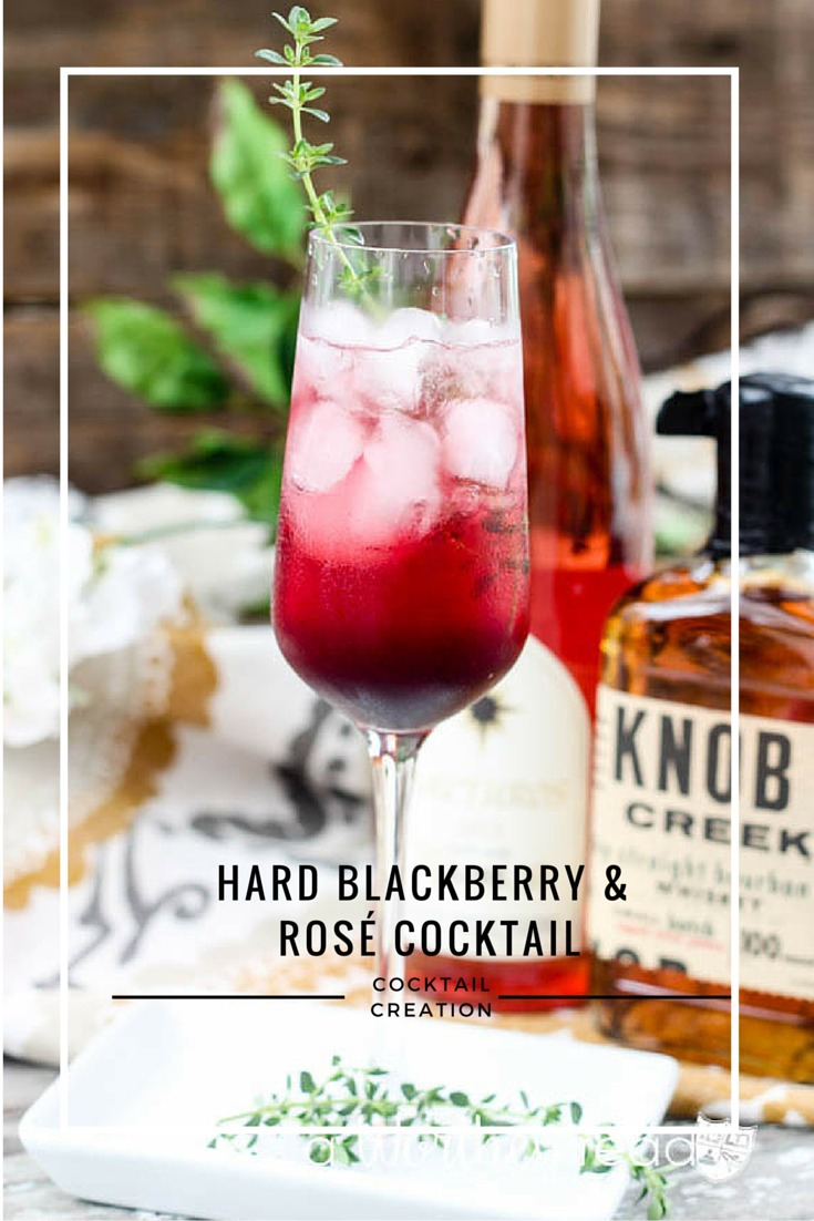 Hard Blackberry & Rosé Cocktail